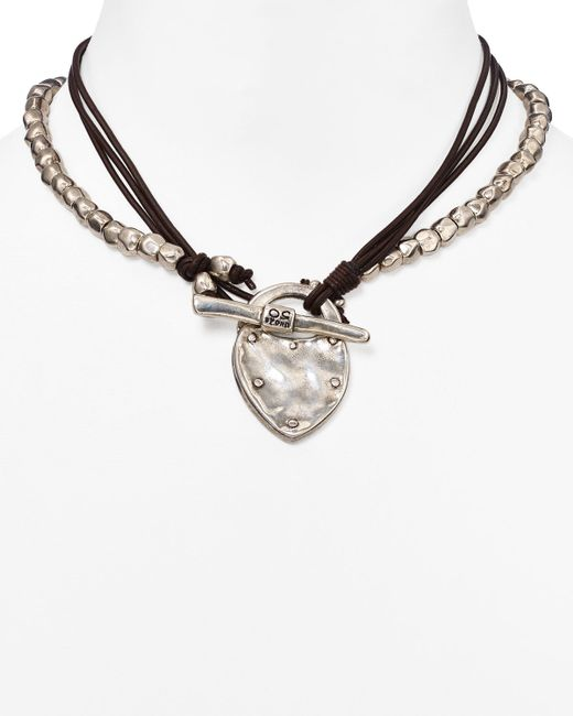 "Uno De 50 | Metallic The Secret Pendant Necklace, 14"" | Lyst"