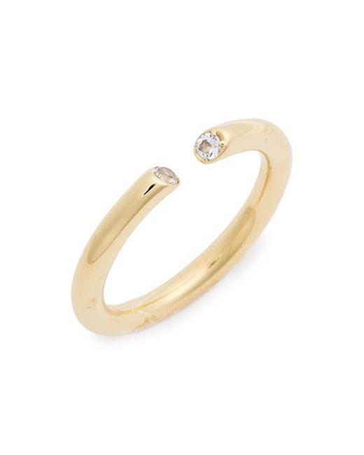 Elizabeth and James | White 'obi' Ring | Lyst