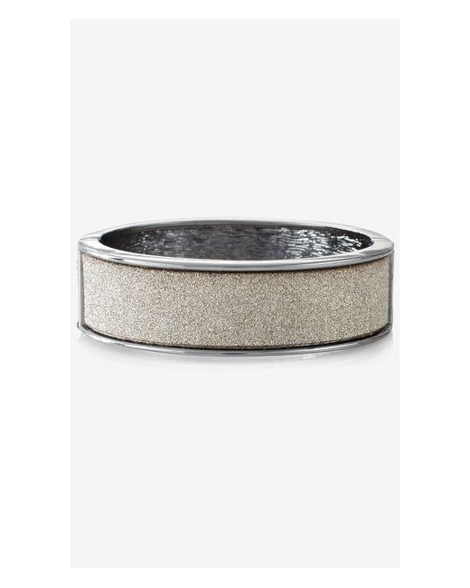 Express | Metallic Glitter Hinge Bangle Bracelet | Lyst