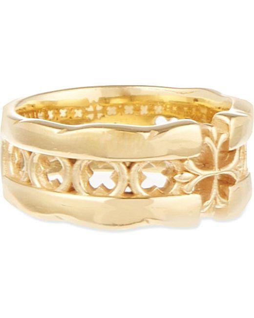 Nialaya | Metallic Cut-out Cross Ring | Lyst