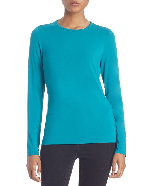 Lord & Taylor | Blue Petite Iconic Fit Crewneck Sweater | Lyst