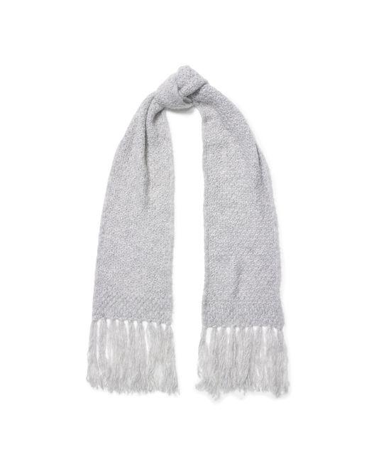 Pink Pony | Gray Honeycomb Wool-blend Scarf | Lyst
