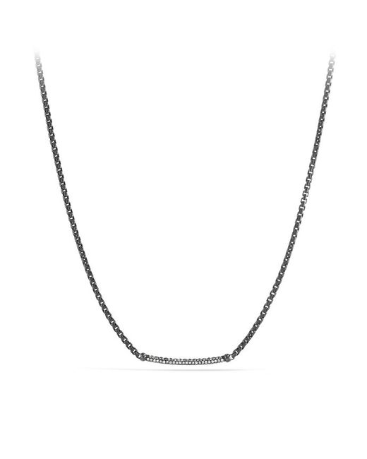 David Yurman | White Petite Pavé Metro Chain Necklace With Gray Diamonds | Lyst