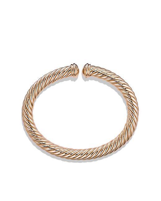 David Yurman | Pink Cable Spira Bracelet In 18k Rose Gold, 7mm | Lyst