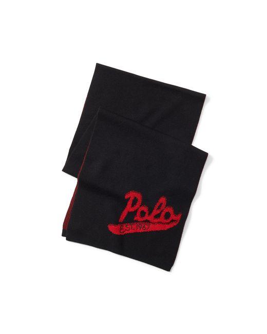 Polo Ralph Lauren | Black Polo Wool Scarf for Men | Lyst