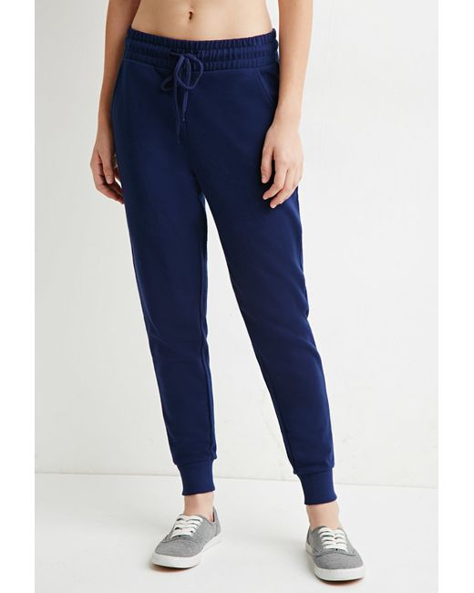 Forever 21 | Blue Classic Drawstring Joggers | Lyst