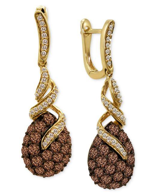 Le Vian   Brown Diamond Chocolate Diamond (2 Ct. T.w.) And White Diamond (1/4 Ct. T.w.) Swirl In 14k Gold   Lyst
