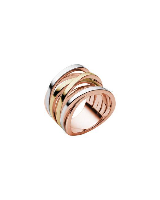 Michael Kors | Pink Tri-tone Stack Ring | Lyst