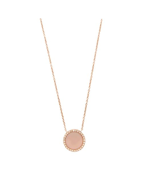 MICHAEL Michael Kors | Metallic Halskette Rose Gold & Blush | Lyst