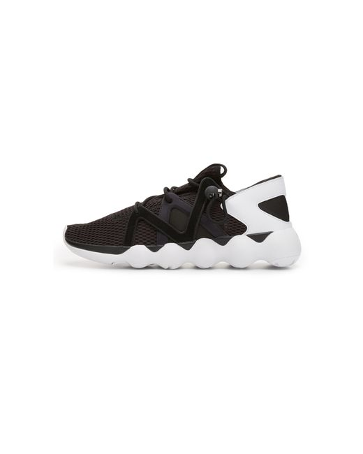 Y-3   Blue Black/white Kyujo Low Trainers for Men   Lyst