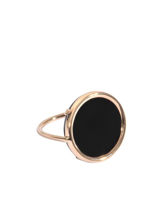 Ginette NY | Metallic Black Onyx Disc Ring | Lyst