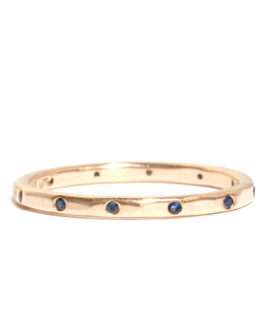 Melissa Joy Manning | Metallic 12 Blue Sapphire Wedding Band | Lyst