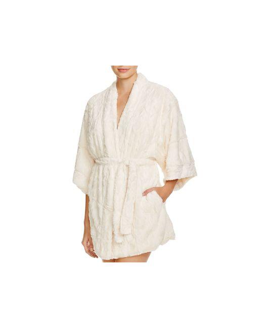 Natori | White Faux Fur Kimona Robe | Lyst