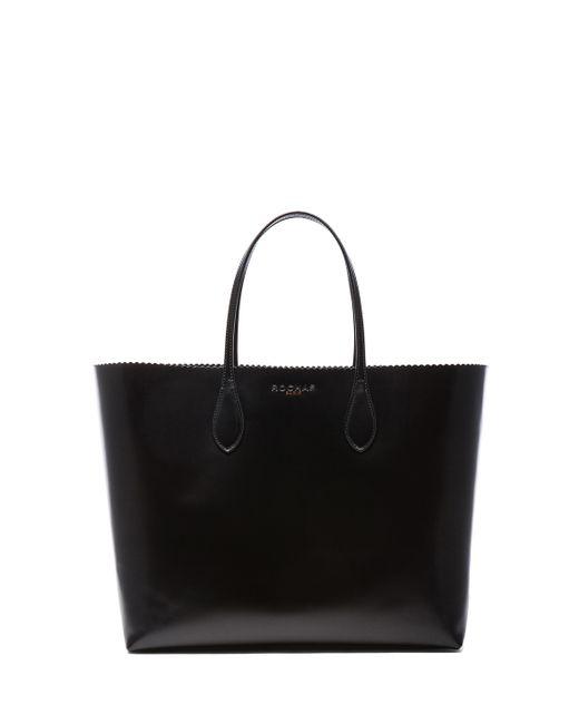 Rochas | Black Borsa Leather Tote | Lyst