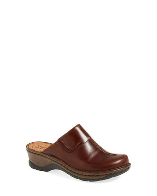Josef Seibel | Brown Heeled Leather Mules  | Lyst