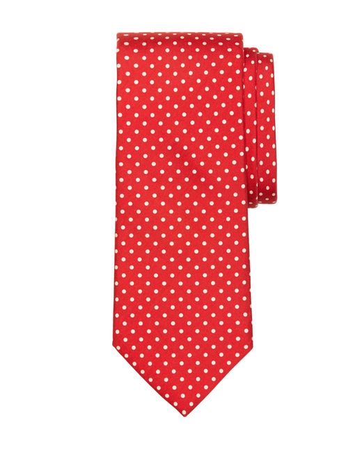 Brooks Brothers | Red Small Dot Print Tie for Men | Lyst