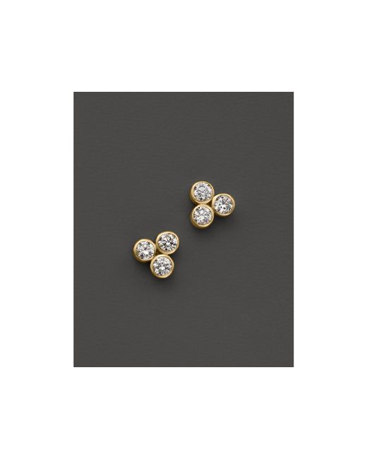 Zoe Chicco | Metallic 14k Yellow Gold Diamond Trio Stud Earrings | Lyst