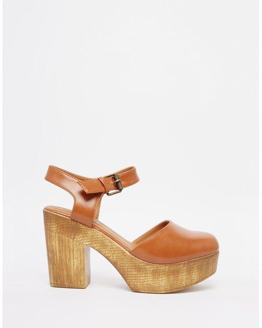 truffle collection camari platform clog heeled shoes in