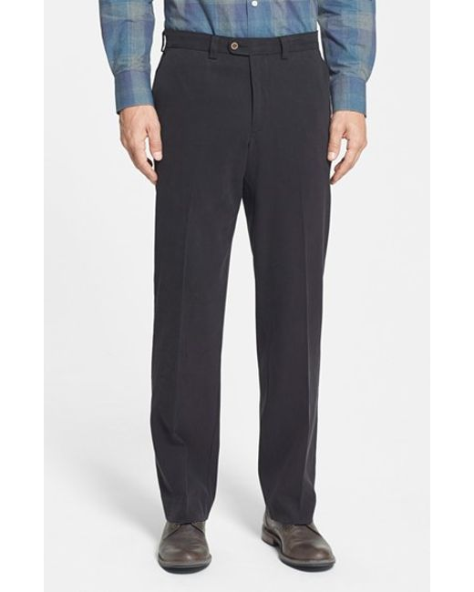 Tommy Bahama | Black 'coastal' Silk Blend Twill Pants for Men | Lyst