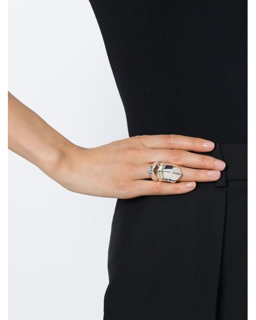Vivienne Westwood Anglomania   Metallic 'armour' Ring   Lyst