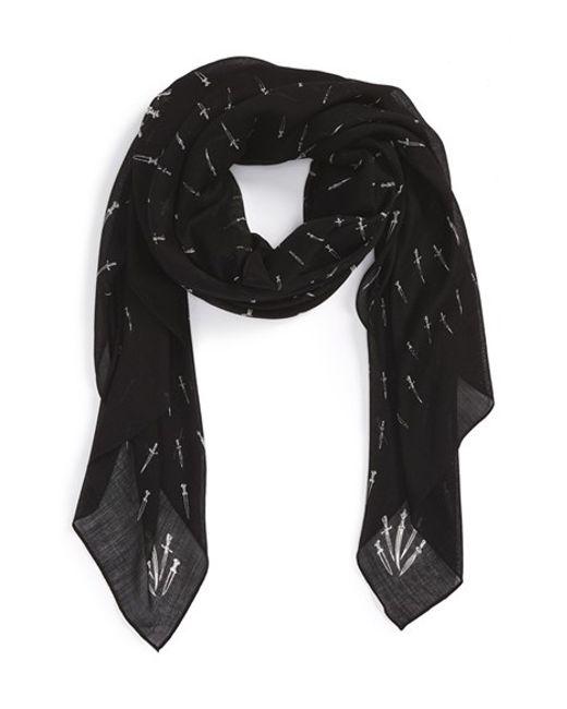 Rag & Bone | Black 'classic Dagger' Wool Scarf | Lyst