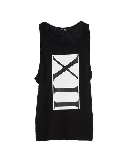 DKNY | Black Vest for Men | Lyst