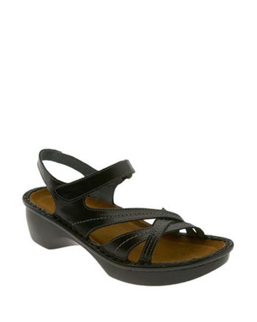 Naot | Black 'paris' Sandal | Lyst