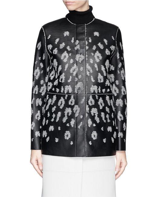 Lanvin | Black Round Neck Jacket | Lyst