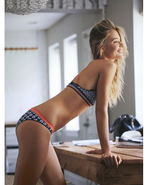Free People | Blue Mixed Print Bikini | Lyst