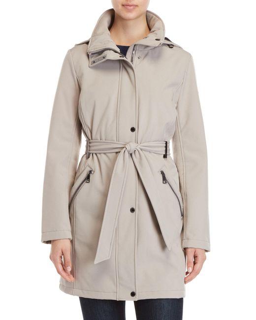 Calvin Klein - Multicolor Belted Softshell Raincoat - Lyst