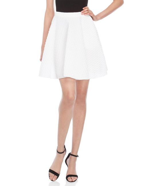 Faith Connexion - White Textured Babydoll Skirt - Lyst