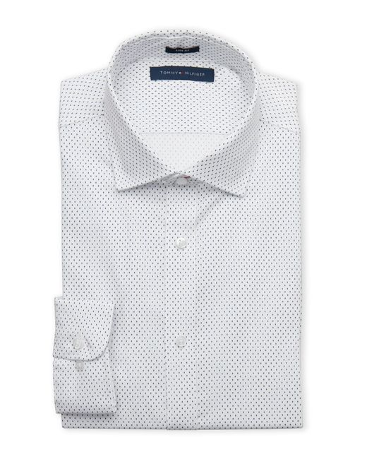 Tommy Hilfiger | White Dash Slim Dress Shirt for Men | Lyst