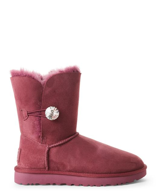 ... Ugg | Pink Bailey Button Bling Short Boots | Lyst ...