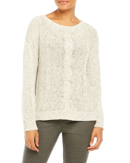 Eileen fisher Cable Knit Sweater in Multicolor Lyst