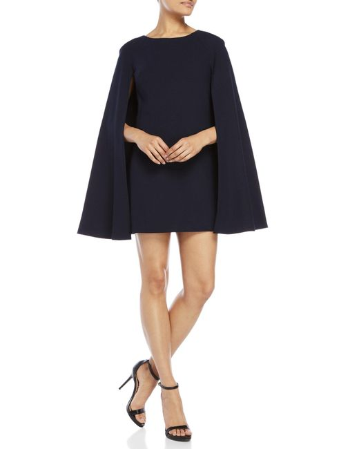 Trina Turk | Blue Spring Gizela Cape Dress | Lyst