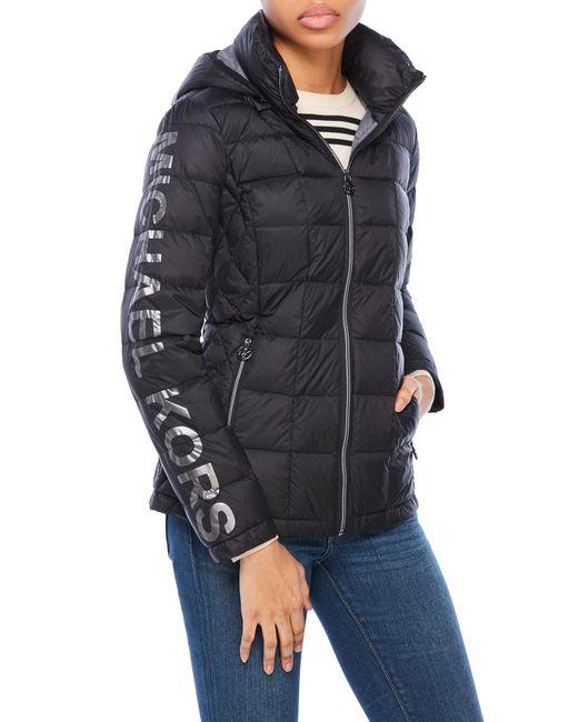 Michael Kors Packable Down Jacket In Black Lyst