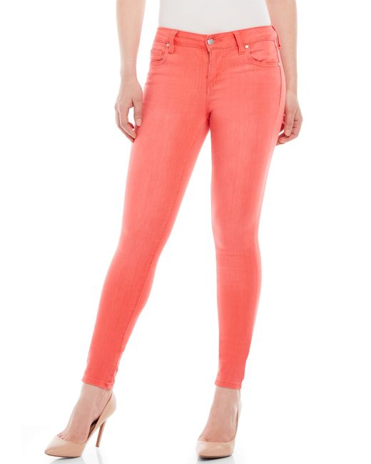 Celebrity Pink Coral Skinny Jeans In Orange