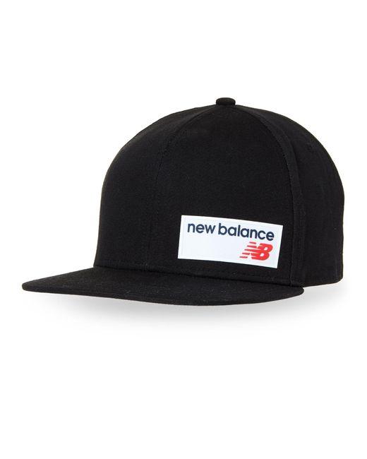 491ea5b59fcb9a New Balance Logo Patch Snapback Cap in Black for Men - Lyst