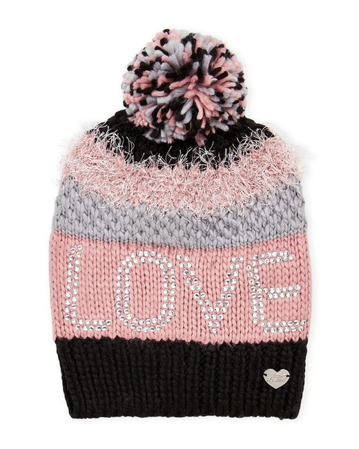 Betsey Johnson | Love Textured Slouchy Beanie | Lyst