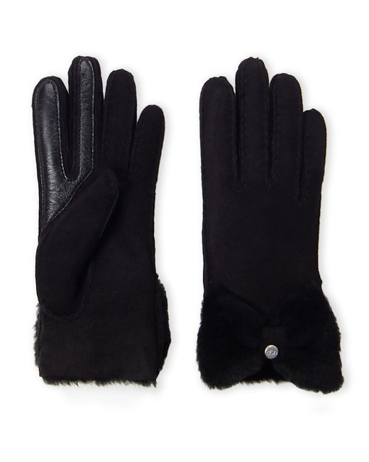 Ugg Black Bow Shorty Tech Gloves
