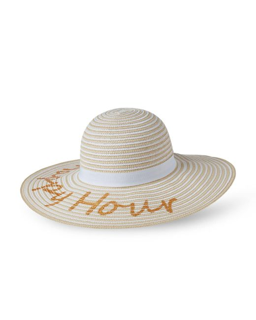 august hat company - White Happy Hour Floppy Hat - Lyst