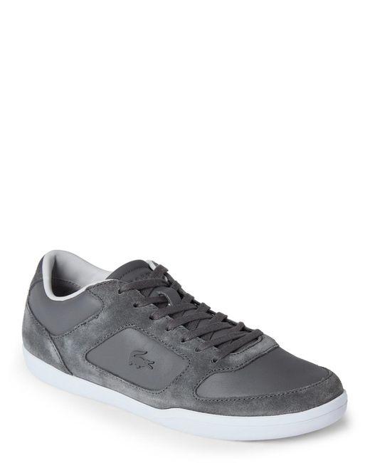 Lacoste | Gray Dark Grey Court Minimal Low Top Sneakers for Men | Lyst
