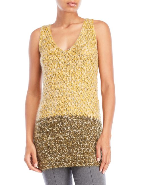 Missoni   Yellow Knit Tunic Top   Lyst