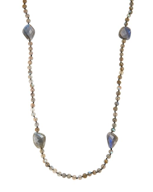 Bavna   Labradorite & Black Spinel Necklace   Lyst