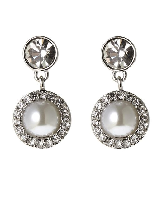 Givenchy | Metallic Silver-Tone Faux Pearl Earrings | Lyst
