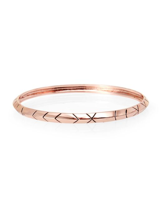 House of Harlow 1960 | Metallic Rose Gold-Tone Aztec-Inspired Bangle | Lyst