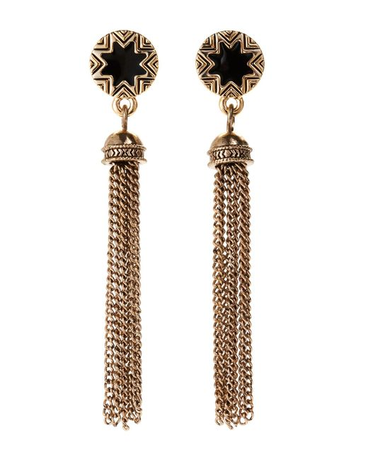 House of Harlow 1960 | Metallic Gold-Tone Sunburst Tassel Earrings | Lyst