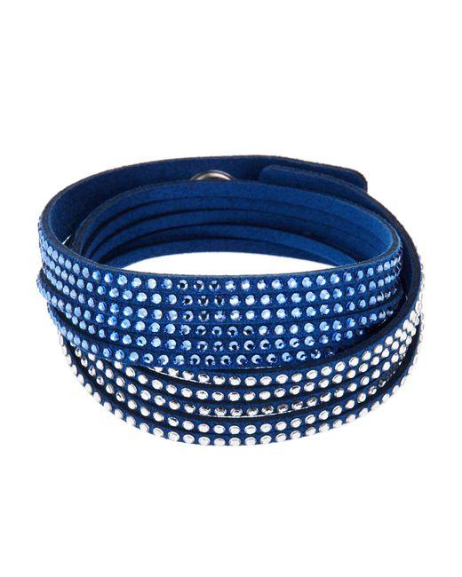 Swarovski | Blue Slake Gradient Crystal Wrap Bracelet | Lyst