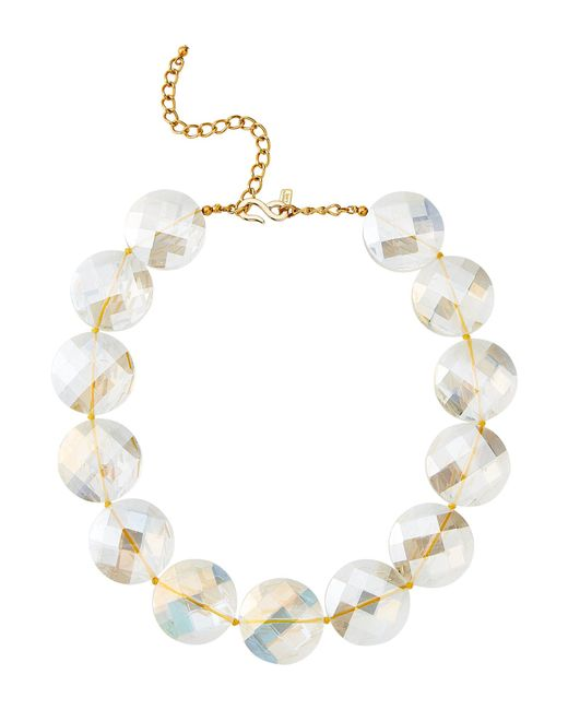 Kenneth Jay Lane - Multicolor Clear Faceted Circles Necklace - Lyst