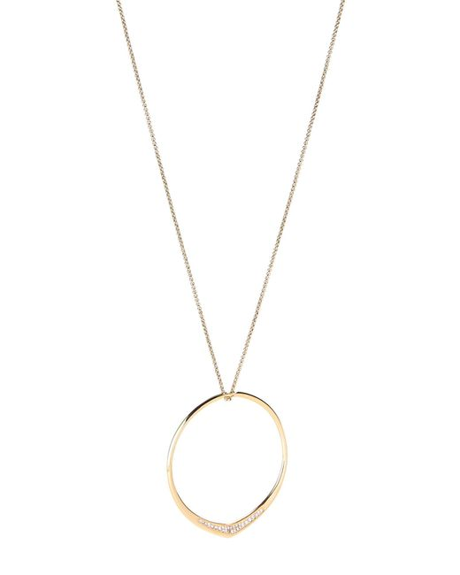Michael Kors - Metallic Gold-tone Hoop Pendant Necklace - Lyst